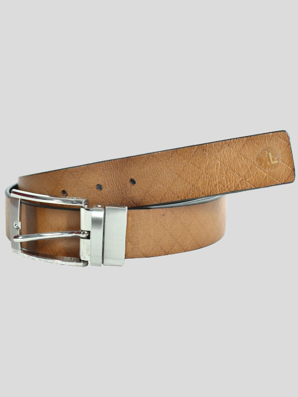 Harry Mens Diamond Cross Pattern Genuine leather Belts S-3XL