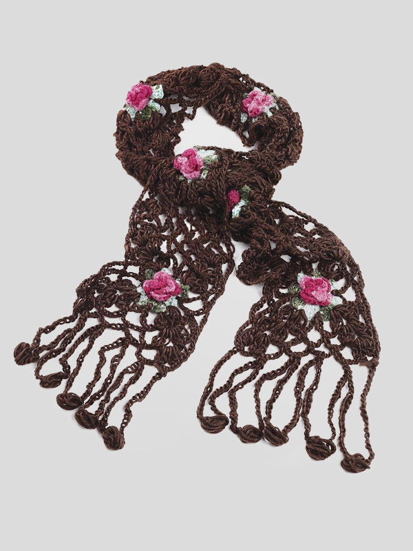 Harriet Crochet Floral Shawls Scarves