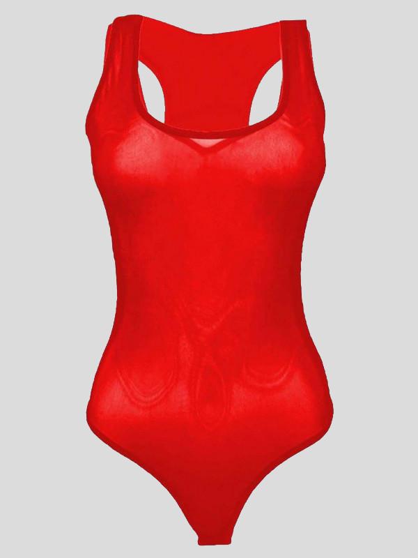 Helena Plus Size Mesh Muscle Bodysuits 16-22