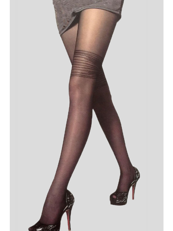 Molly Spiral Thigh High Sheer Lace Stockings