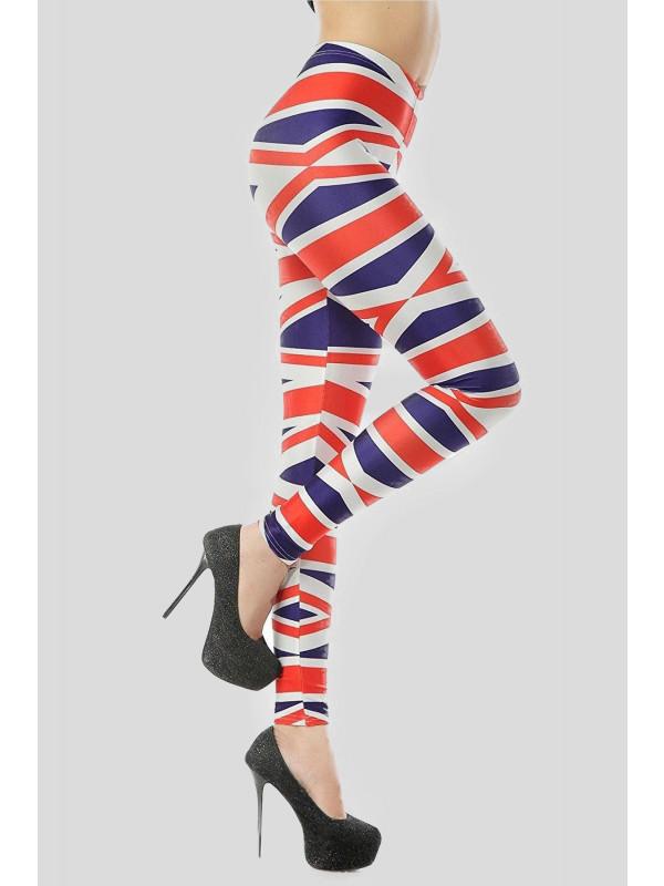 Isla Plus Size Tall Rosie Union Jack Print Leggings 16-26