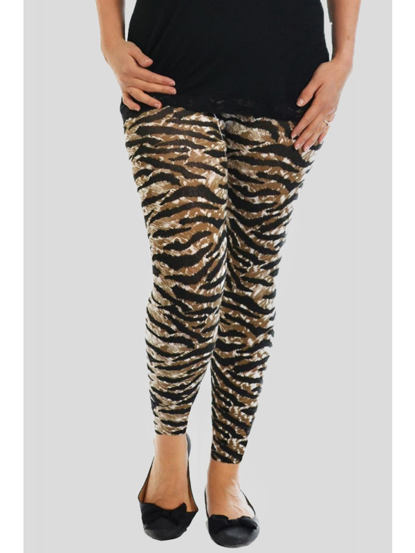 Isla Plus Size All Over Tiger Print Leggings 16-26