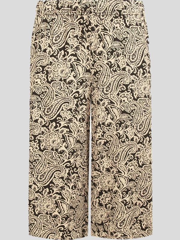 Jane Plus Size Paisley Print Wide Leg Culottes Shorts 16-26