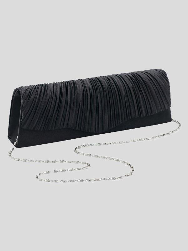 Jasmine Crinkle Look Ruffle Design Clutch Bags