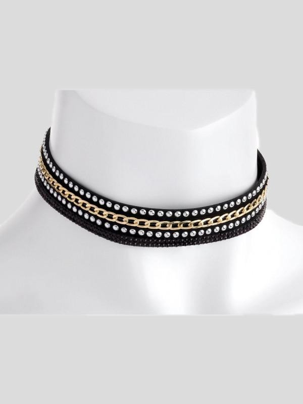 Jemima Bead Chain Look Choker Necklace