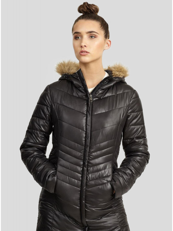 Katie Quilted Puffer Hooded Jacket 8-16