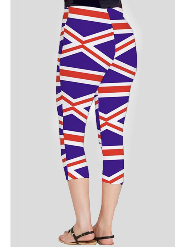 Laiba Union Jack Flag Printed 3/4 Leggings 8-14