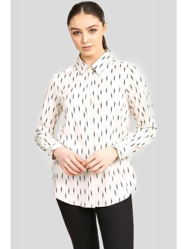Kaylee Lightning Bolt Print Collar Shirt 16-22