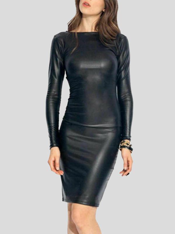 Lexi Plus Size Wetlook Bodycon Dress 16-26