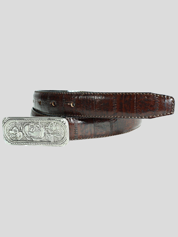 Harper Womens Weave Embossed Genuine Leather Belts M-4XL