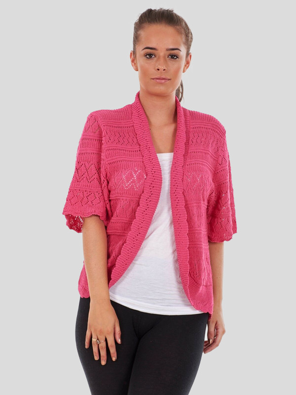 Lucy Plus Size Knitted Bolero Cardigans 16-26