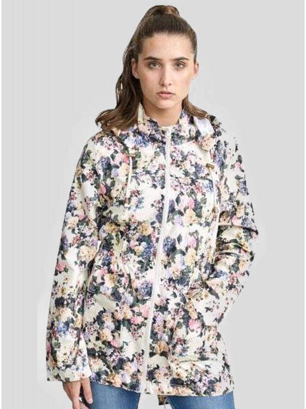 Lucy Plus Size Floral Print Hooded Jacket 18-24