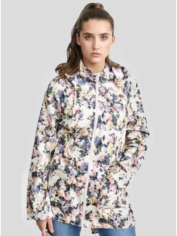 Lucy Floral Print Hooded Showerproof Jacket 18-24