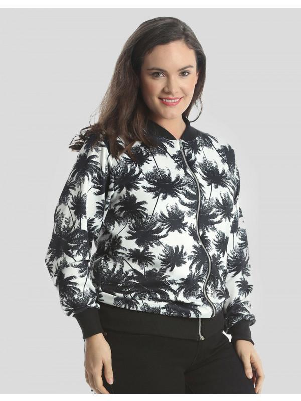 Aurelia Plus Size Zip Up Ribbed Bomber Blazer Jacket 16-28