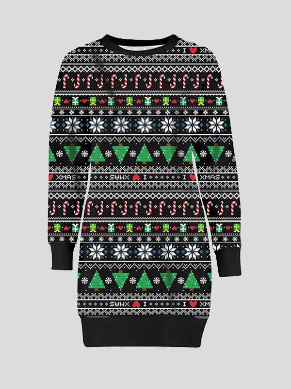 Sofiya Plus Size Aztec Candy Xmas Jumpers 16-22