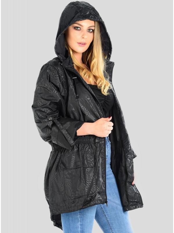 Megan Plus Size Spiral Fish Tail Mac Jacket 18-22
