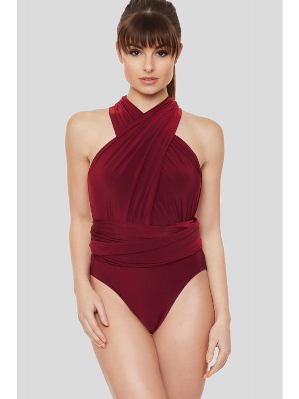 Amelie Multi Way Slinky Stretchy Bodysuit 8 - 14