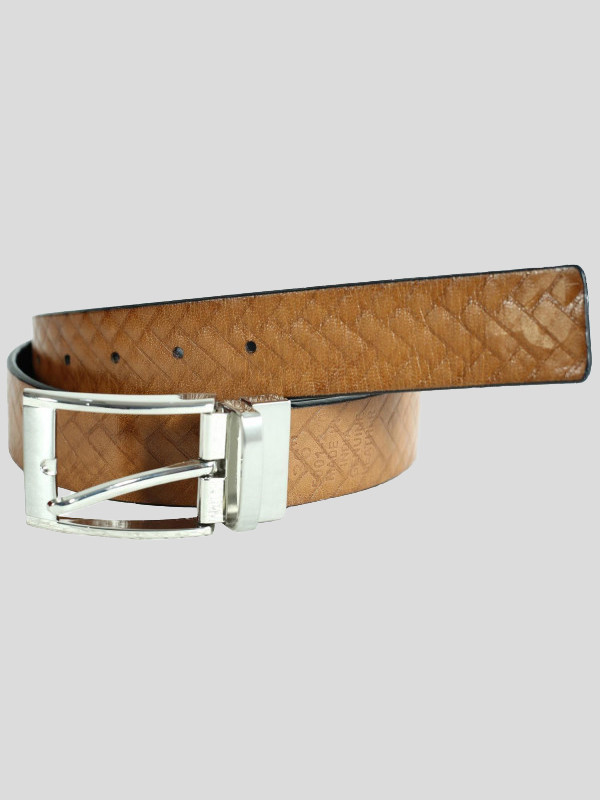Neville Mens Brick Textured Genuine leather Belts S-3XL