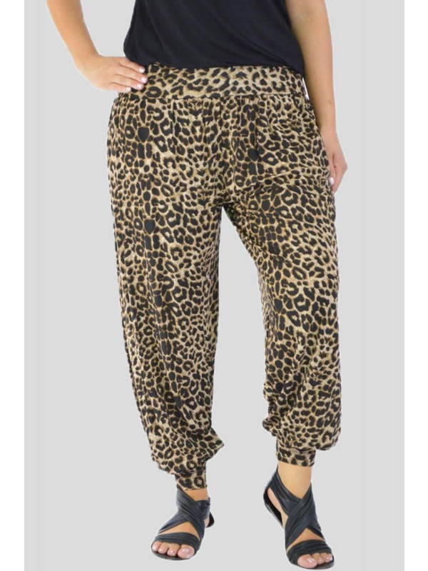 Daisy Leopard Printed Harem Trouser 12-14
