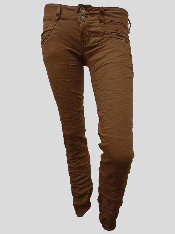 Ruby Cuffed Bottom Skinny Chino Trousers 8-14