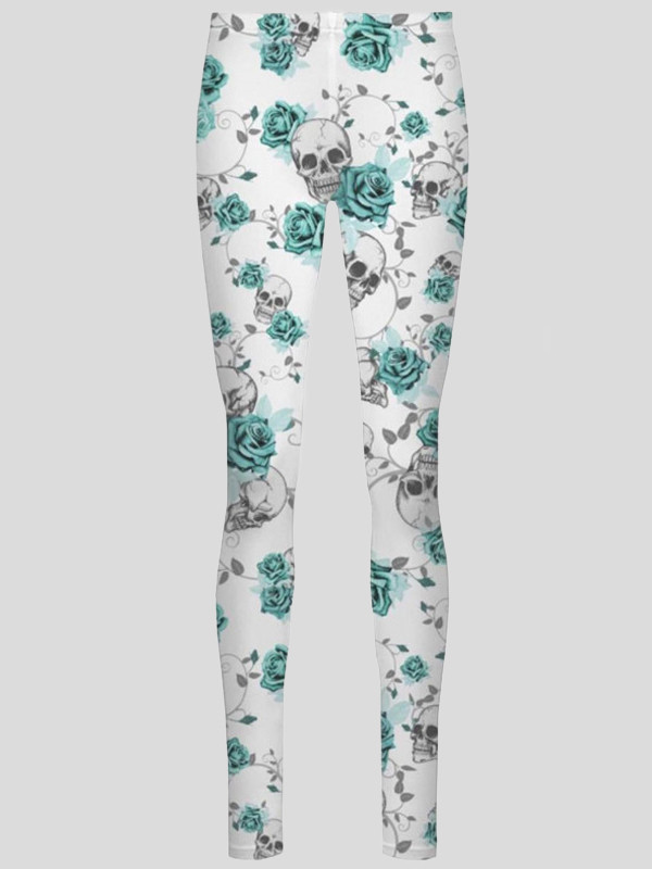 HAWA Skull Rose Full Length Leggings 8-16