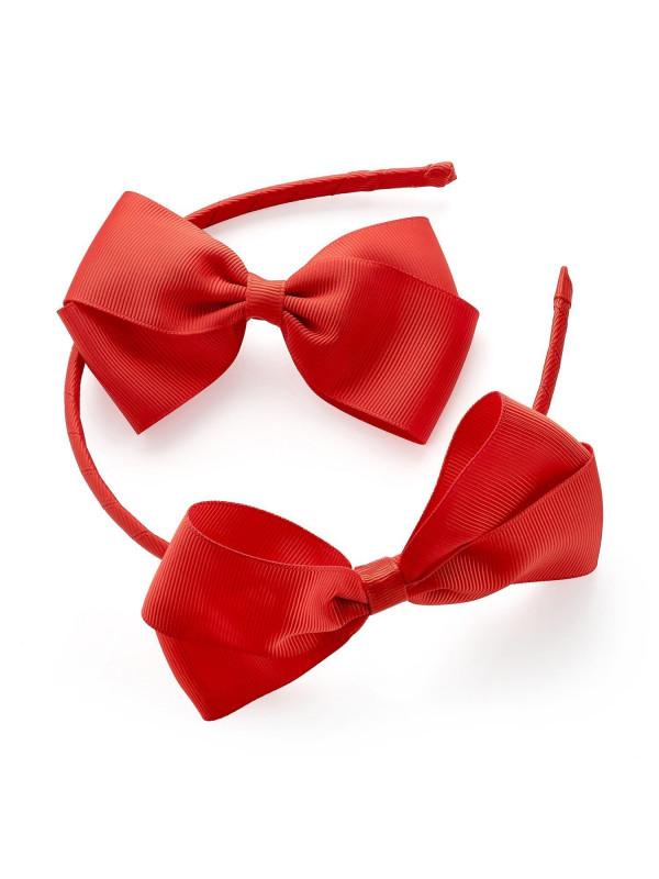 Alayah Ladies 2 piece Plain Bow Headband Bow Hair Clip