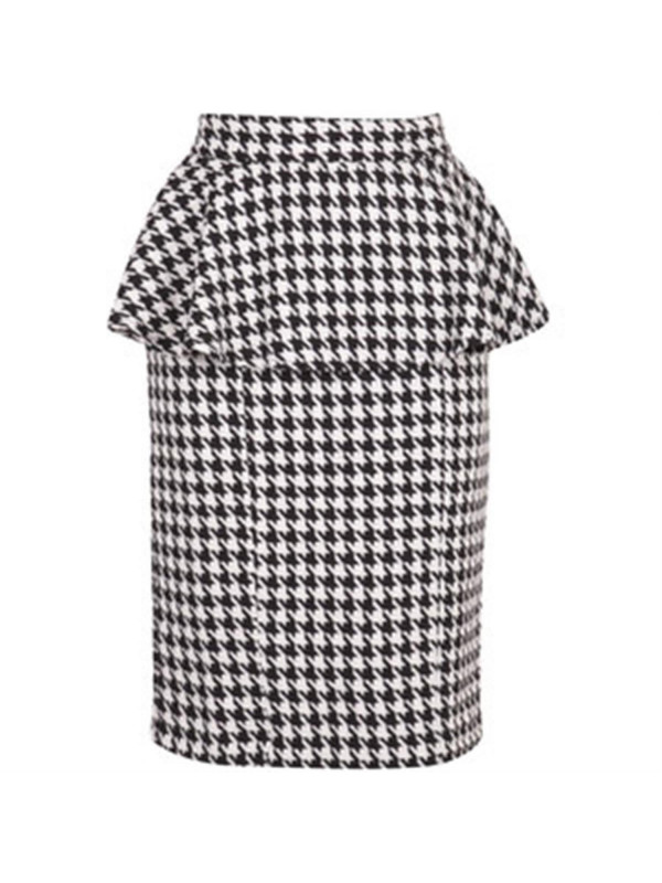 Bella Dogtooth Peplum Skirts 6-14
