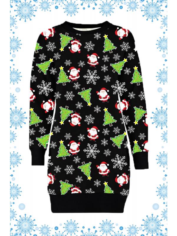 Manha Plus Size Waving Santa Xmas Jumper 16-22