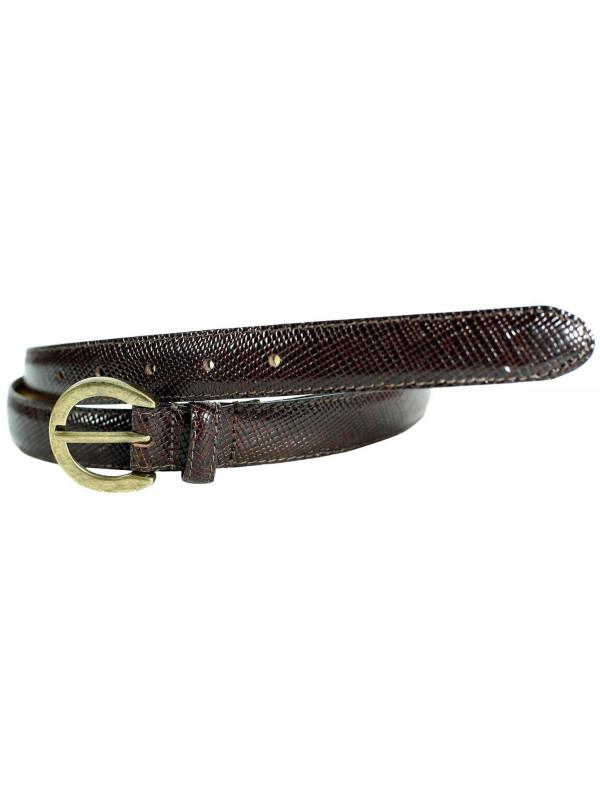 Carolina Ladies Oval Brass Buckle Genuine  Leather Belts M-4XL