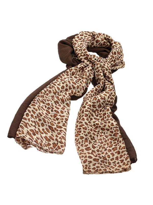 Layla Leopard Print Shawls