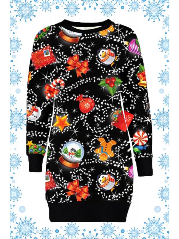 Renee Plus Size Snowman Penguin Xmas Jumper 16-22