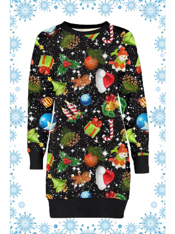 Nova Plus Size Snowflakes Gift Xmas Jumpers 16-22
