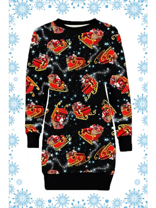 Astrid Plus Size Santa Sleigh Xmas Jumpers 16-22