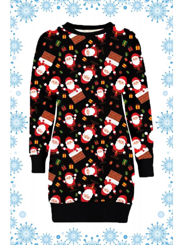 Myra Plus Size Santa On Wall Xmas Jumpers 16-22