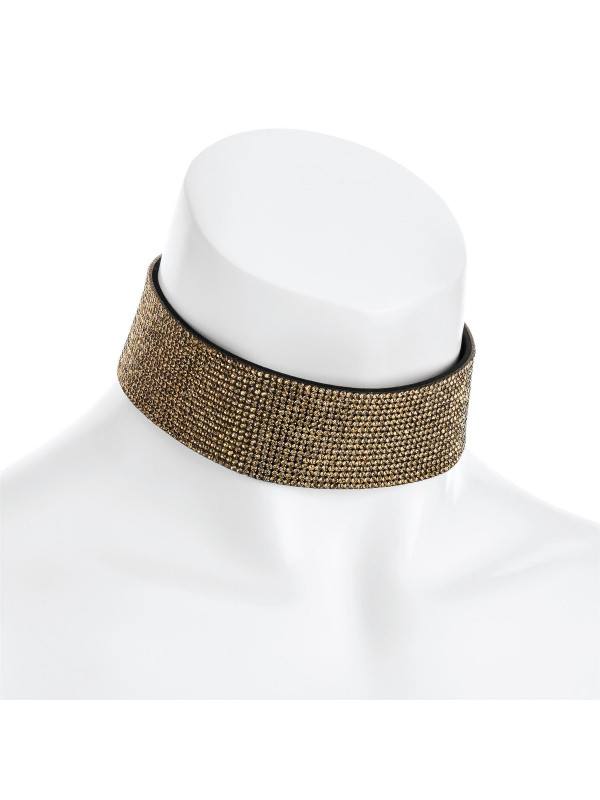 Freya Gold Color Heat Seal Choker Necklace