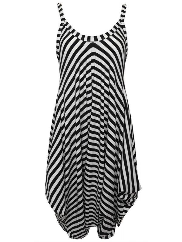 Isla Mono Stripe Printed Lagenlook Jumpsuit 8-26