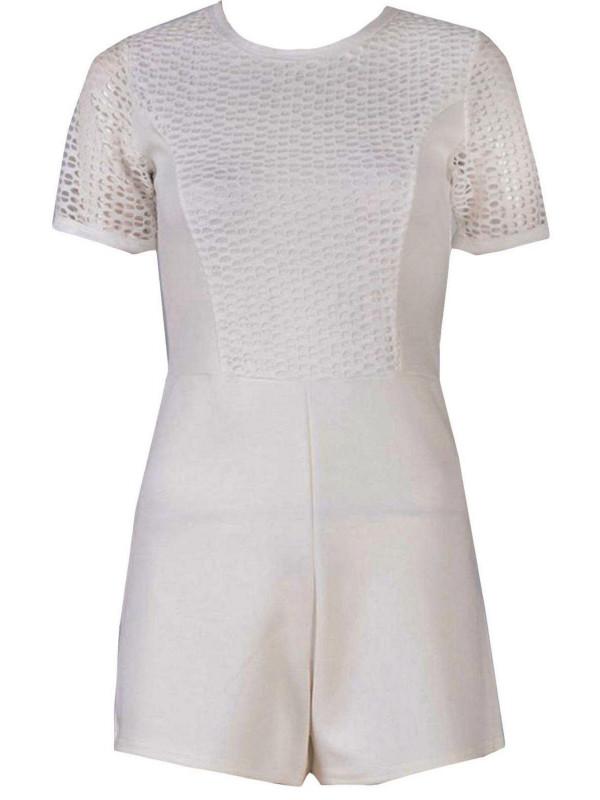 Cadence Crochet Lace Playsuit Dress Jumpsuit Party Dress 8-14