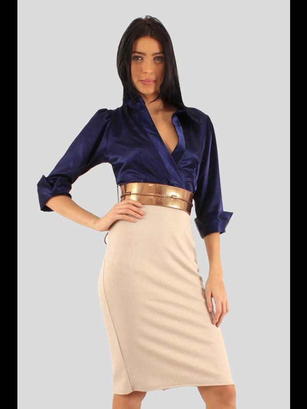 Eva Keri 2 In 1 Office Dress 8-14