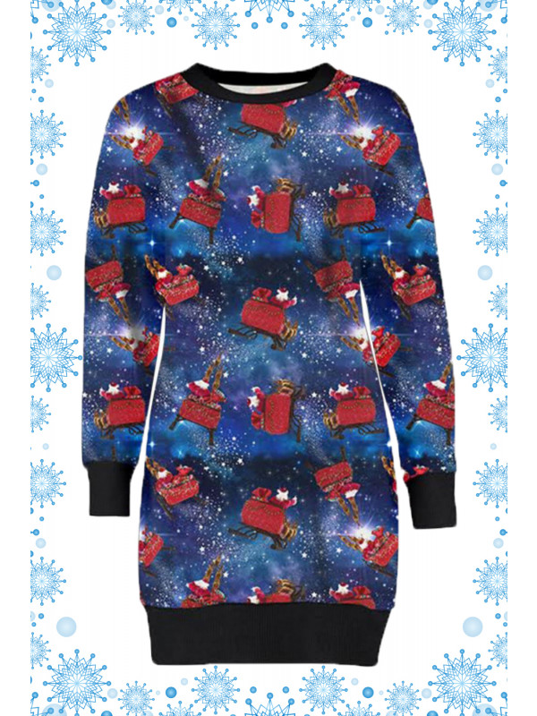 Lia Plus Size Galaxy Santa Xmas Jumpers 16-22