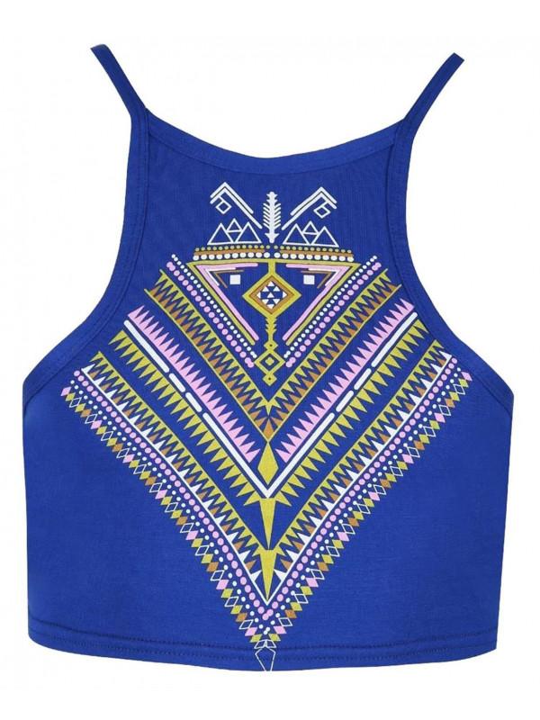 Clara Aztec Print Cami Crop Top 8-14