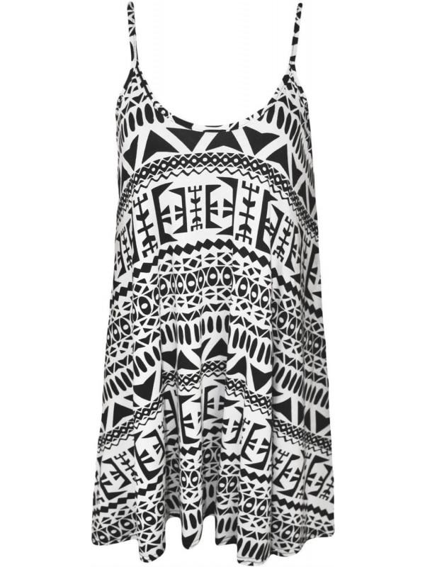 Rosie Big Aztec Print Swing Dress 8-26