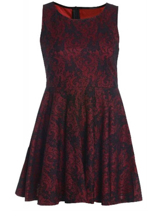 Perla Sleeveless Bonded Lace Skater Going Out Dress