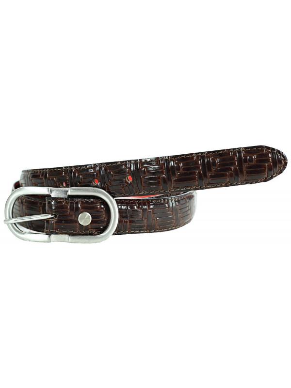 Harper Womens Weave Embossed Genuine Leather Belts M-4XL