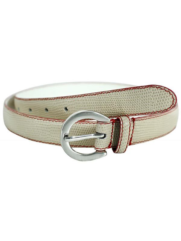 Alani Womens Reptile Skin Contrast Mini Genuine Leather Belts M-4XL