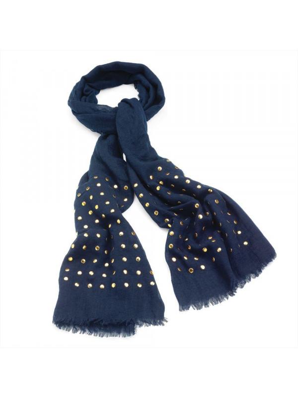 Abigail scarves Designer Gold Studs Scarf