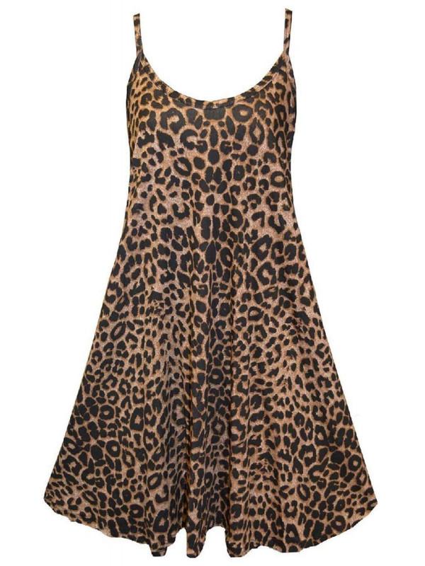Mary Leopard Print Swing Dress