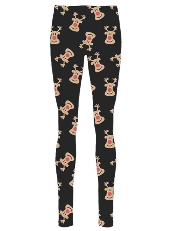 Hollie Rudolph Face Print Xmas Leggings 8-34