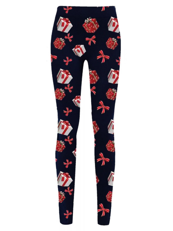 Robyn Navy Gift Tie Xmas Leggings 8-34