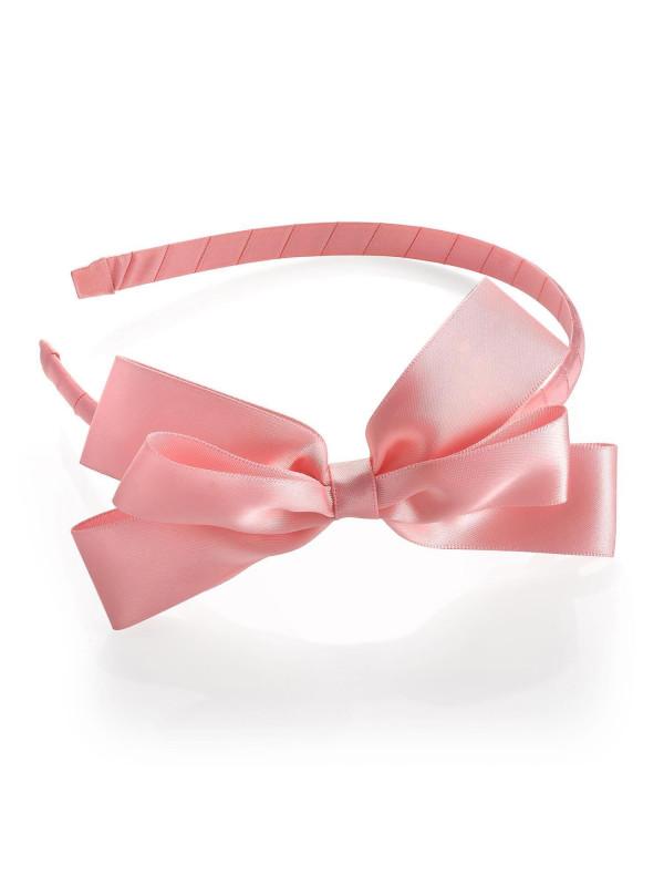Bethany Womens Satin Effect Bow Ribbon 13cm Headband Accessories