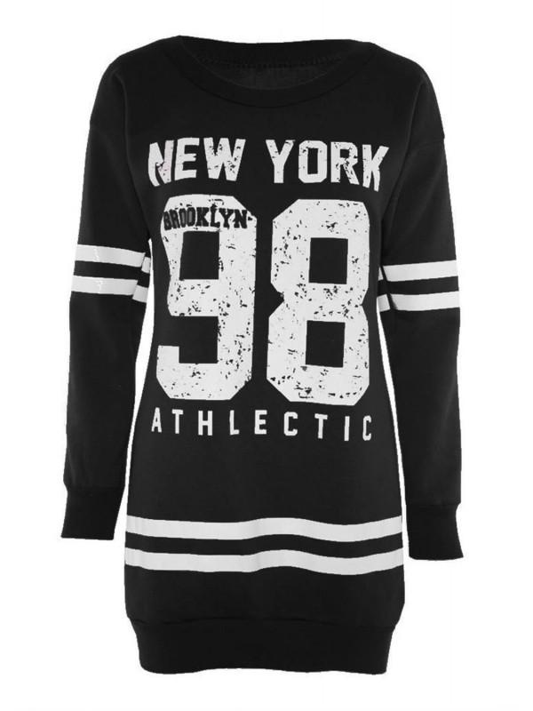 Nola Plus Size 98 Newyork Print Jumpers 16-22